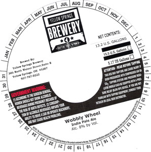 Yellow Springs Brewery Wobbly Wheel