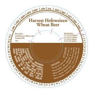 Craft Brew Alliance, Inc. Harvest Hefeweizen June 2013
