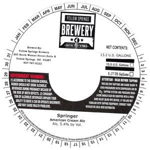 Yellow Springs Brewery Springer