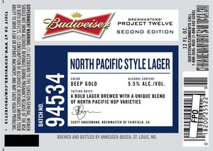 Budweiser Brewmasters' Project Twelve North Pacific Style 94534