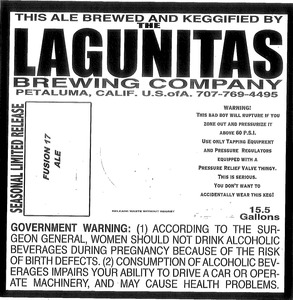 The Lagunitas Brewing Company Fusion 17 June 2013