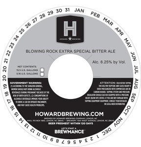 Howard Brewing Company Blowing Rock Extra Special Bitter Ale