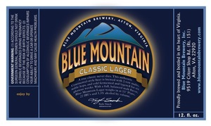 Blue Mountain Brewery Blue Mountain Classic