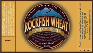 Blue Mountain Brewery Rockfish Wheat