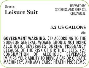 Goose Island Beer Co. Leisure Suit