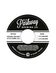 Parkway Belgian Style Dubbel Ale