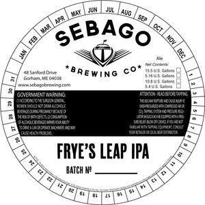 Sebago Brewing Company Frye's Leap IPA