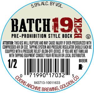 Batch 19 Bock