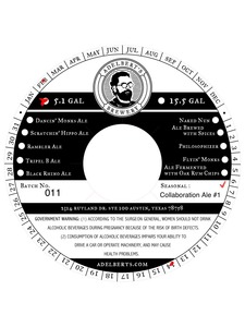 Adelberts Brewery Collaboration Ale #1