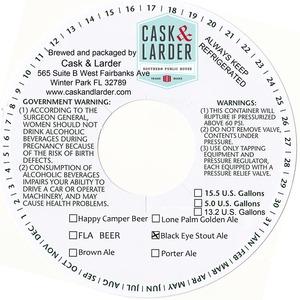 Cask & Larder Black Eye Stout Ale