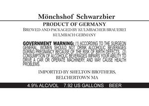 Kulmbacher Brauerei MÖnchschof Schwarzbier