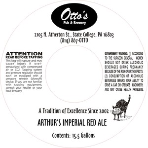 Otto's Pub And Brewery Arthur's Imperial Red Ale
