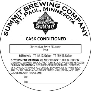 Summit Brewing Company Pilsener