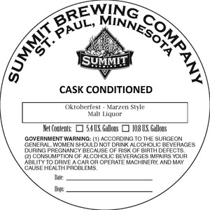 Summit Brewing Company Oktoberfest