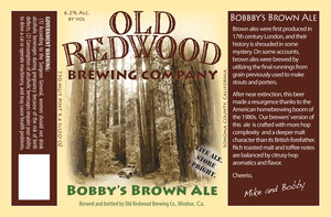 Old Redwood Brewing Company Bobbyh's Brown Ale
