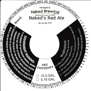 Naked Brewing Company Naked's Red Ale