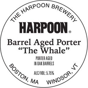 """Harpoon Barrel Aged Porter """"the Whale"""""""
