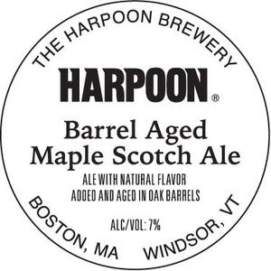 Harpoon Barrel Aged Maple Scotch Ale