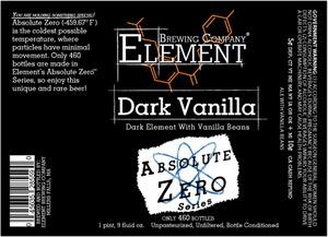 Element Brewing Company Dark Vanilla