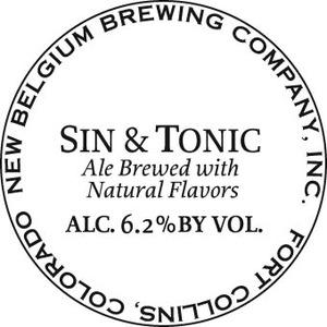 New Belgium Brewing Company Sin & Tonic