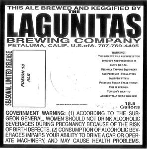 The Lagunitas Brewing Company Fusion 18