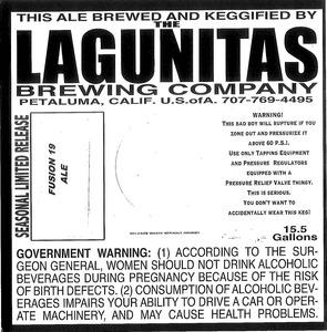 The Lagunitas Brewing Company Fusion 19