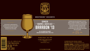 Widmer Brothers Brewing Company Ginger Barrel Aged Ale Brrrbon