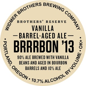 Widmer Brothers Brewing Company Vanilla Barrel Aged Ale Brrrbon