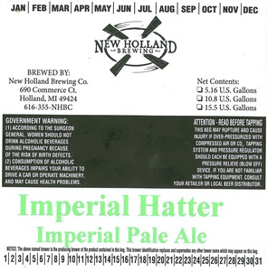 New Holland Brewing Company Imperial Hatter