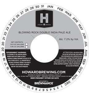 Howard Brewing Company Blowing Rock Double India Pale Ale