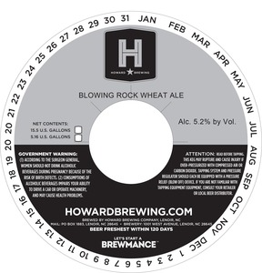 Howard Brewing Company Blowing Rock Wheat Ale