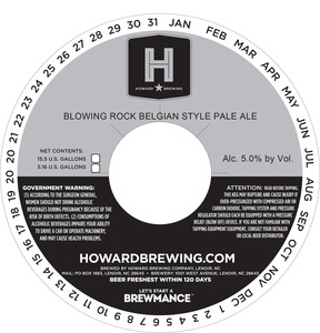 Howard Brewing Company Blowing Rock Belgian Style Pale