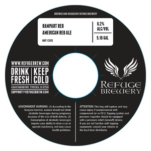 Refuge Brewery Rampart Red
