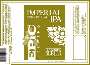 Epic Brewing Company Imperial IPA