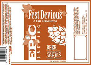 Epic Brewing Company Fest Devious