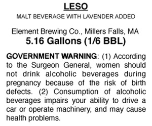 Element Brewing Company Leso