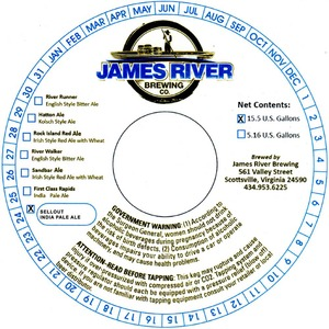 James River Brewing Sellout