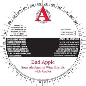 Avery Brewing Company Bad Apple