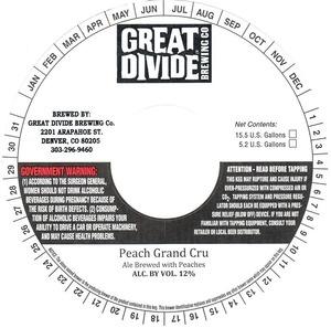 Great Divide Brewing Company Peach Grand Cru