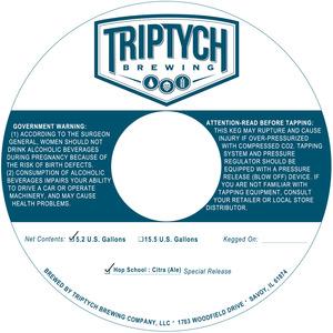 Triptych Brewing Hop School : Citra