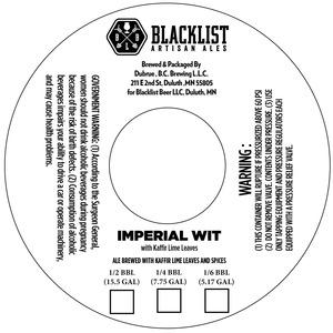 Blacklist Imperial Wit With Kaffir Lime Leaves