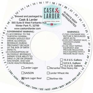 Cask & Larder Dark Lager Beer