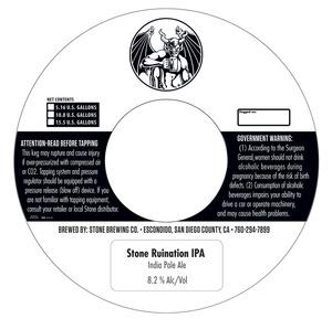 Stone Brewing Company Stone Ruination IPA