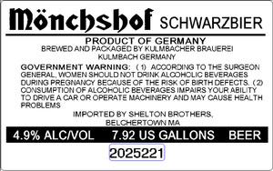 Kulmbacher Brauerei MÖnchshof Scwarzbier