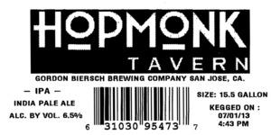 Hopmonk Tavern IPA