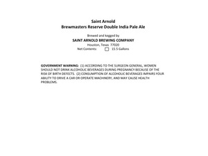 Saint Arnold Brewing Company Brewmasters Reserve Double India Pale Al