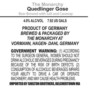 The Monarchy Quedlinger Gose