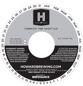 Howard Brewing Company Hammock Time Wheat