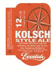 Eventide Brewing Kolsch Style
