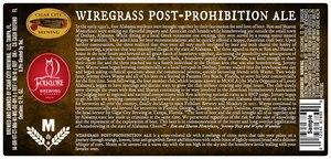 Wiregrass Post Prohibition Ale